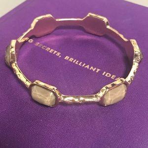 Marilyn Schiff gold-tone/Jade color bracelet.👑
